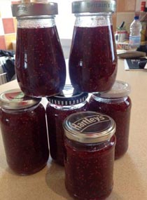 Homemade Jams Ready For Breakfast