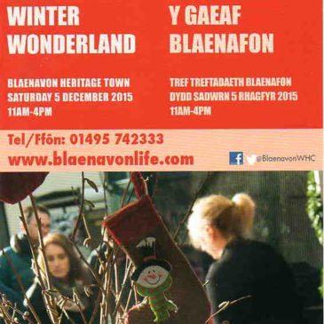 Winter Wonderland Returns To Blaenavon