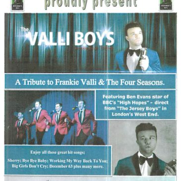 Frankie Valli & Four Seasons Tribute – Valli Boys