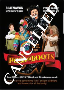 Cancelled – Puss In Boots Pantomime