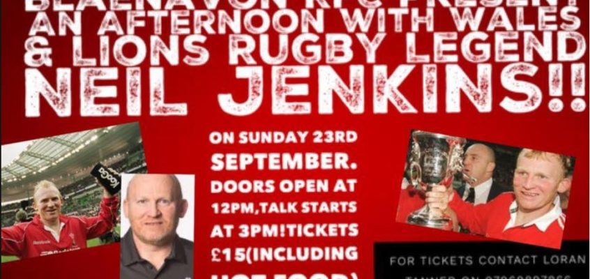 Rugby Legend Neil Jenkins