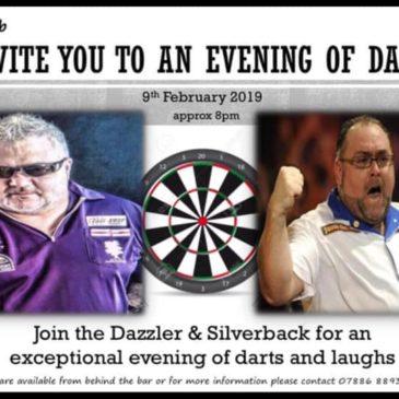 Live Darts – Dazzler And Silverback In Blaenavon