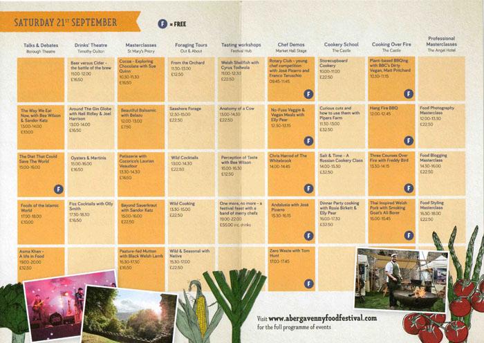 Abergavenny Food Festival Saturday 21st September