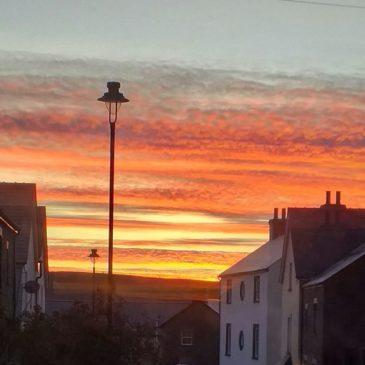 Sunrise over Blaenavon