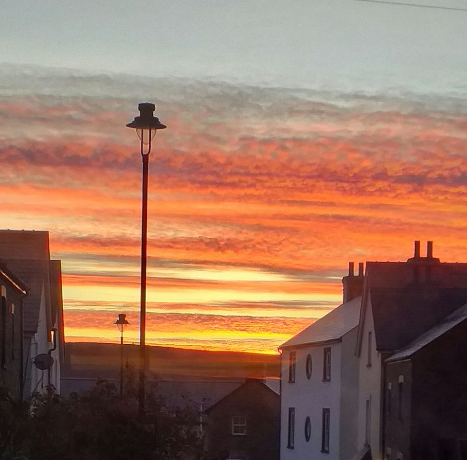 Sunrise over Blaenavon
