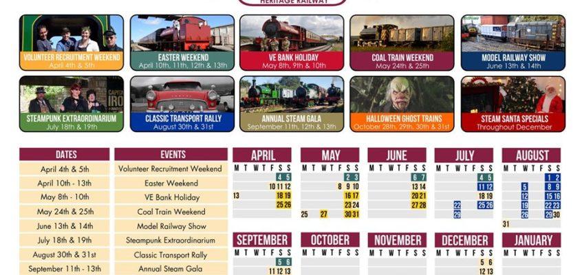 Blaenavon's Heritage Railway 2020 Timetable